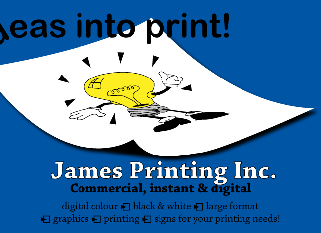 James Printing binding services